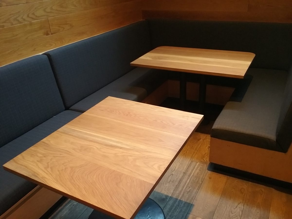 Dining booth design